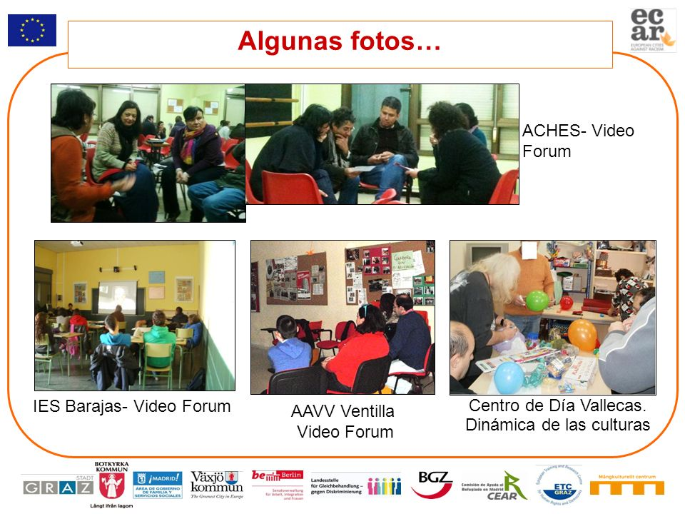 Algunas fotos… ACHES- Video Forum IES Barajas- Video Forum