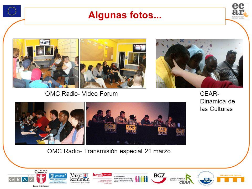 Algunas fotos... OMC Radio- Video Forum CEAR- Dinámica de las Culturas