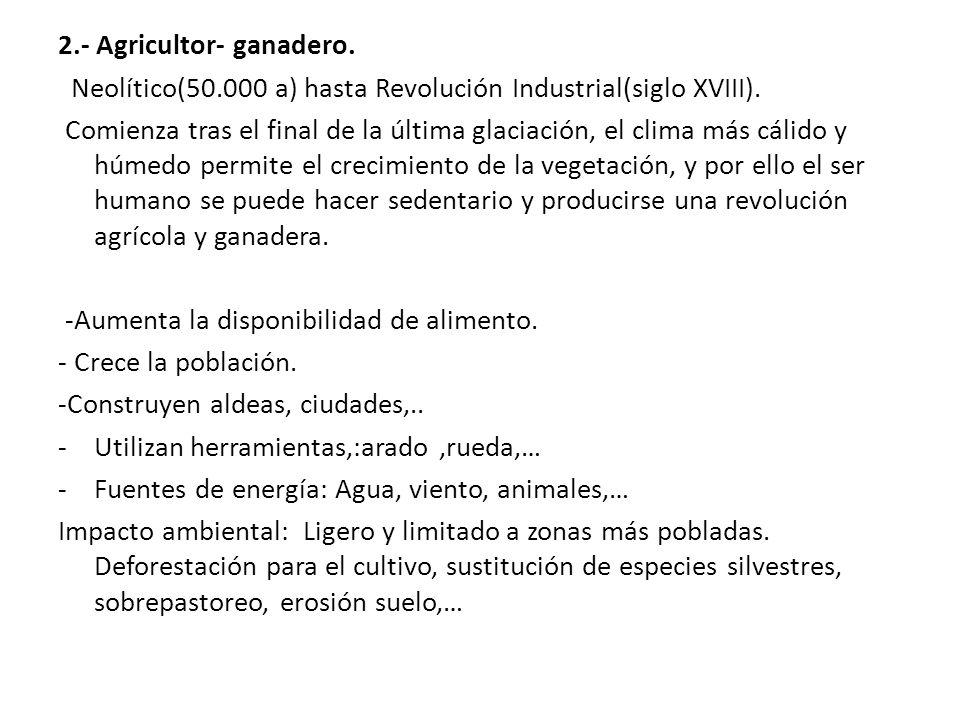 2.- Agricultor- ganadero.