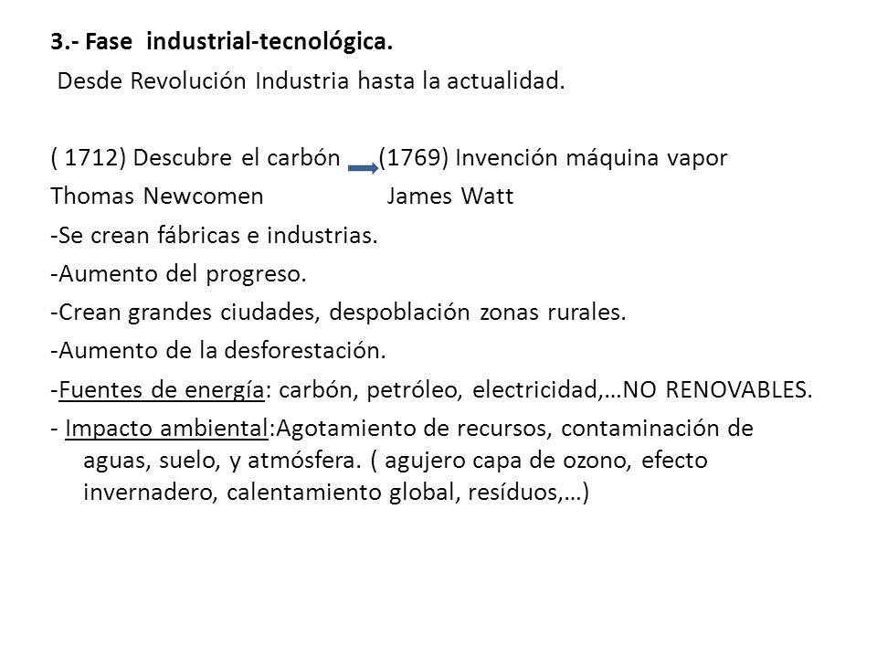 3. - Fase industrial-tecnológica