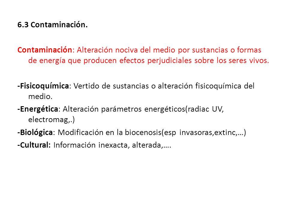 6.3 Contaminación.