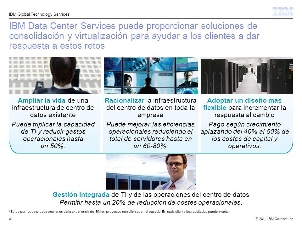 IBM Data Center Services puede proporcionar soluciones de consolidación y virtualización para ayudar a los clientes a dar respuesta a estos retos