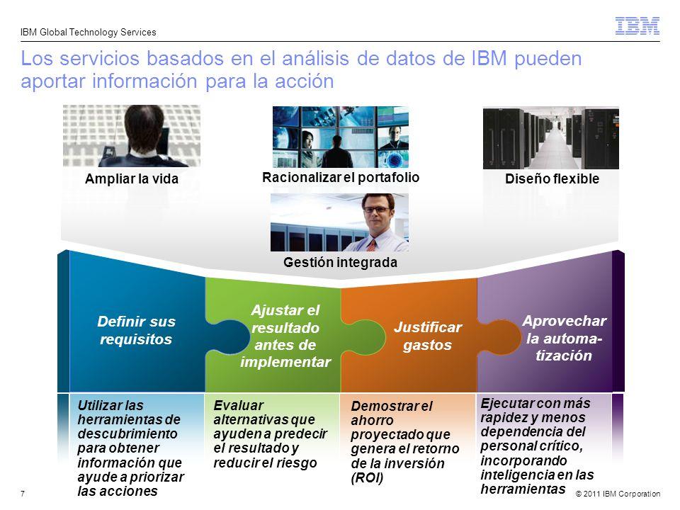 Los servicios basados en el análisis de datos de IBM pueden aportar información para la acción