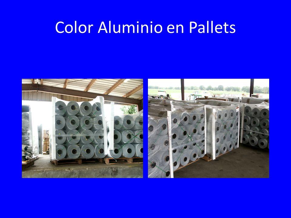 Color Aluminio en Pallets