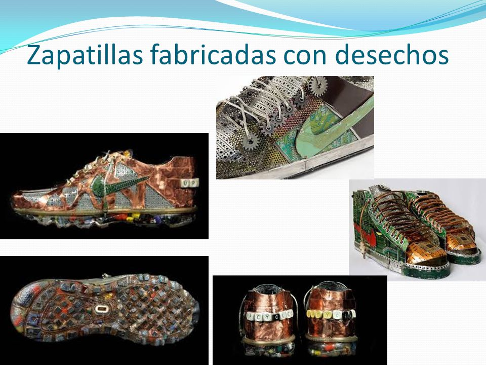 Zapatillas fabricadas con desechos