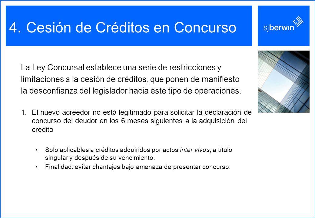 Cesión de Créditos en Concurso