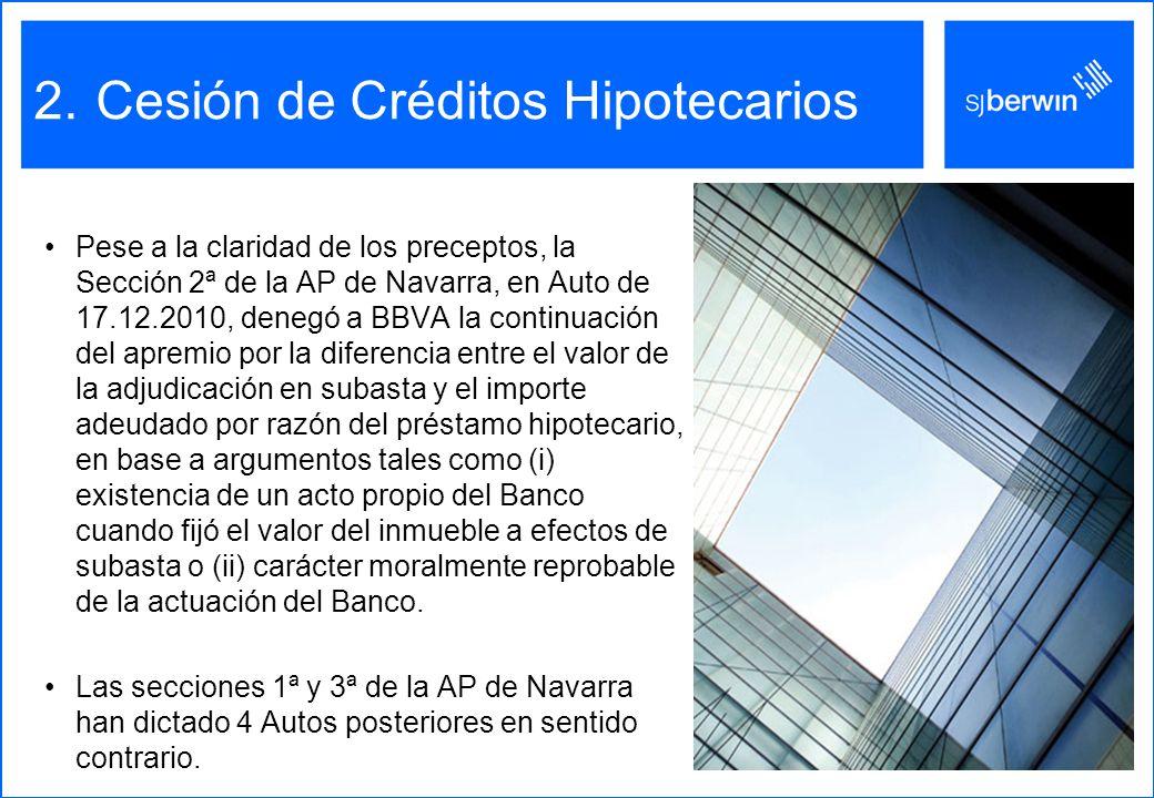 Cesión de Créditos Hipotecarios