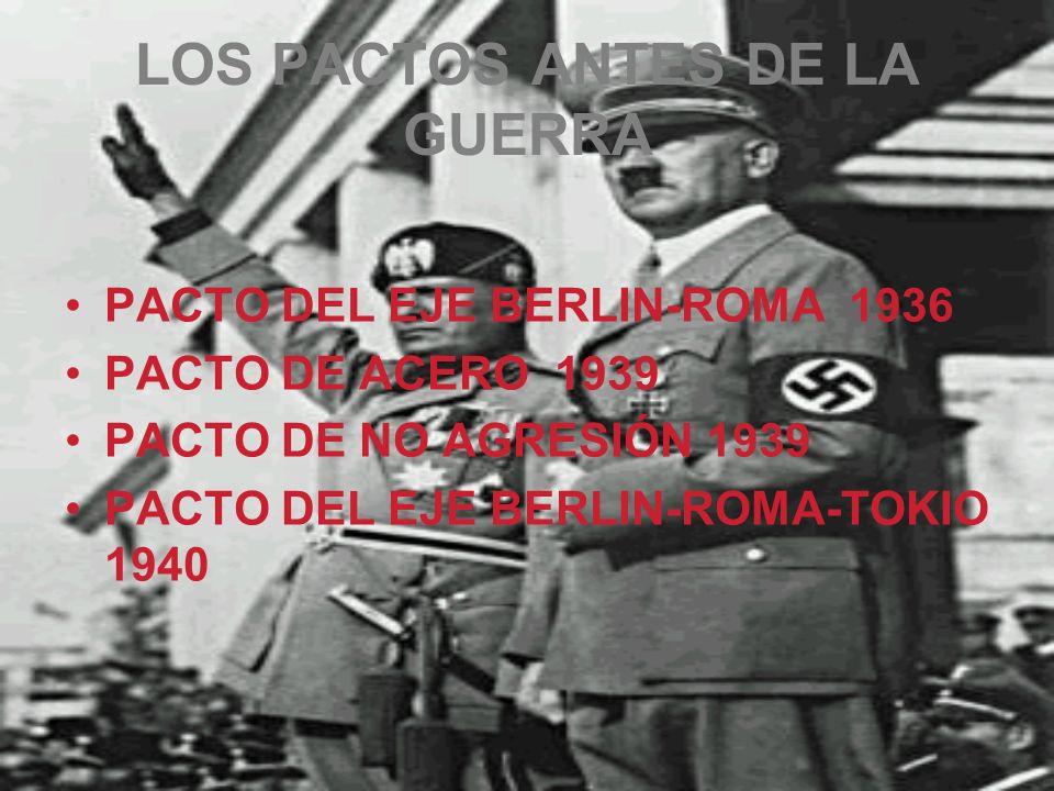 LOS PACTOS ANTES DE LA GUERRA