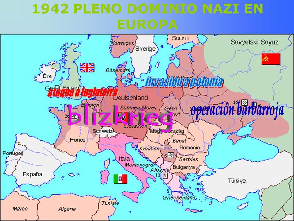 1942 PLENO DOMINIO NAZI EN EUROPA
