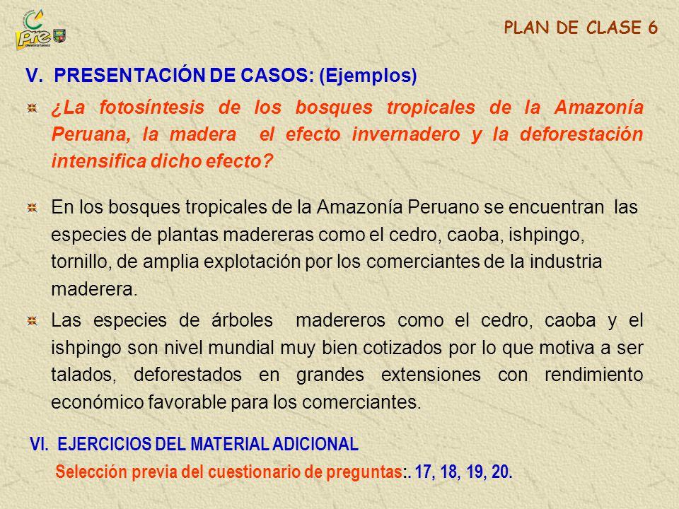 V. PRESENTACIÓN DE CASOS: (Ejemplos)
