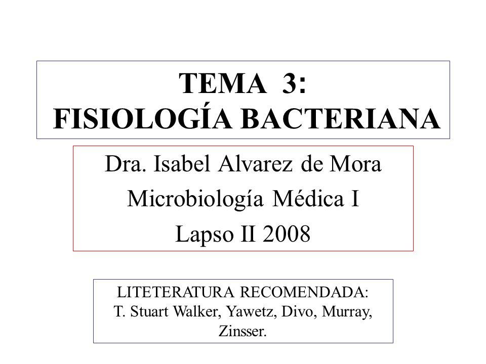 TEMA 3: FISIOLOGÍA BACTERIANA