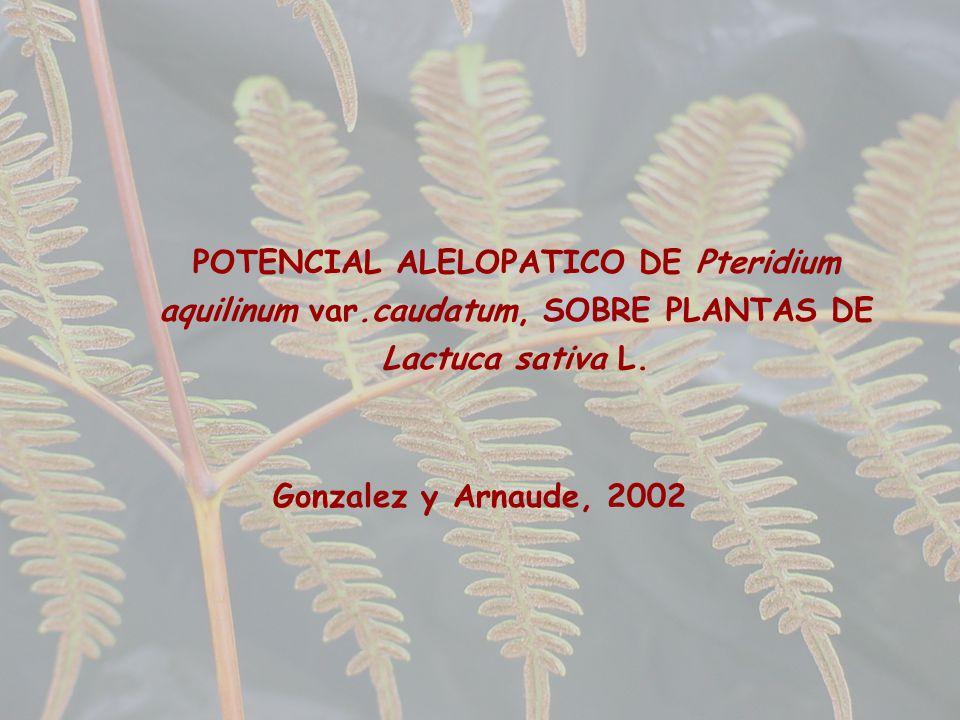 POTENCIAL ALELOPATICO DE Pteridium aquilinum var