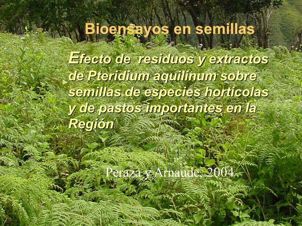 Bioensayos en semillas