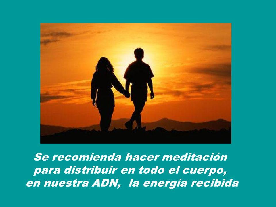 Se recomienda hacer meditación para distribuir en todo el cuerpo,