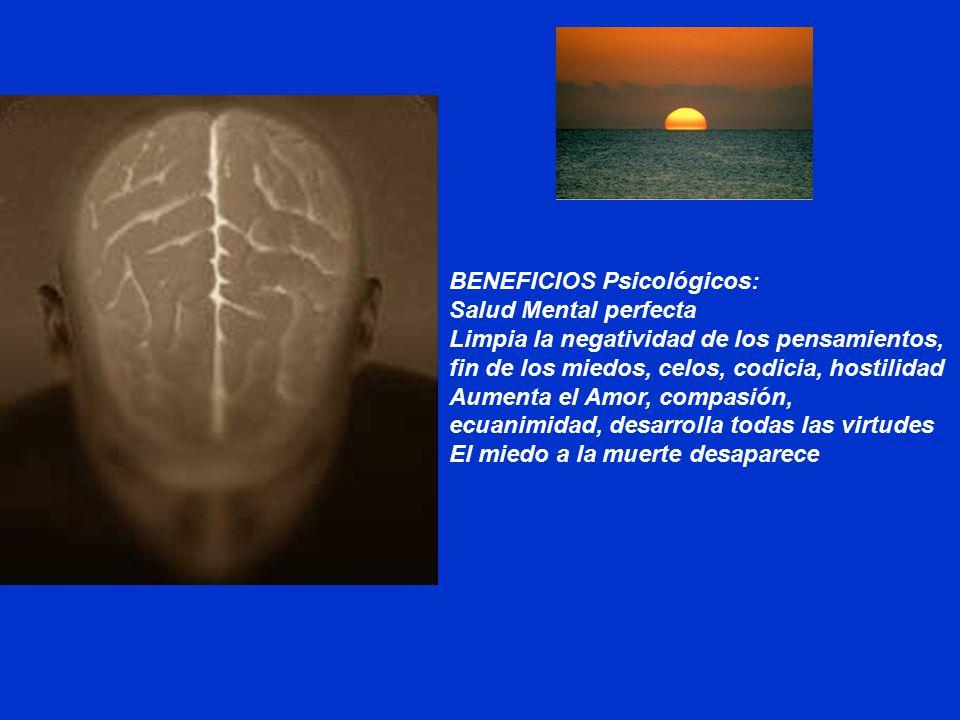 BENEFICIOS Psicológicos: