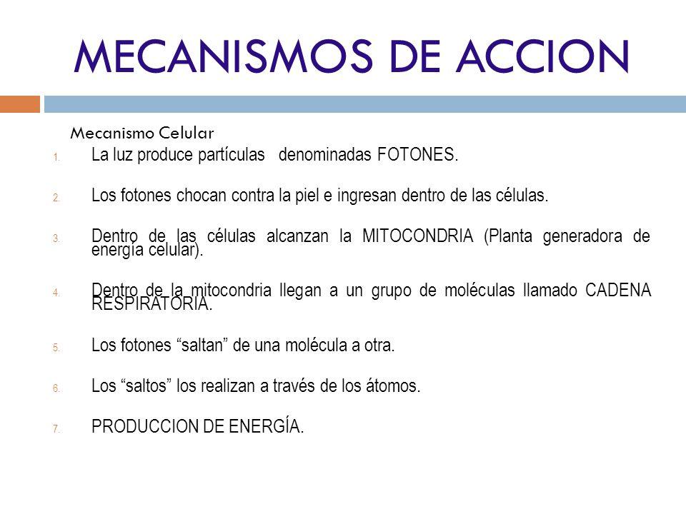 MECANISMOS DE ACCION Mecanismo Celular