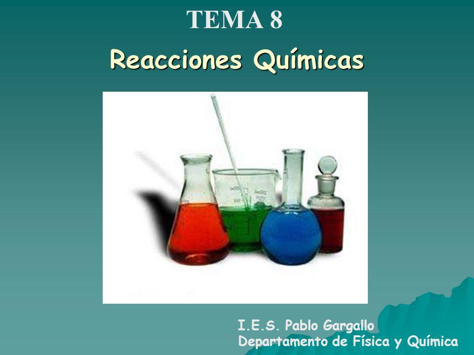 TEMA 8 Reacciones Químicas I.E.S. Pablo Gargallo