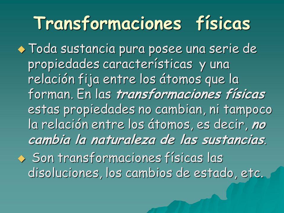 Transformaciones físicas
