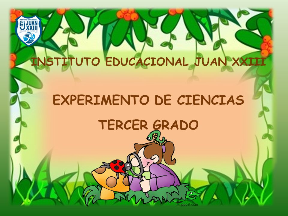 INSTITUTO EDUCACIONAL JUAN XXIII EXPERIMENTO DE CIENCIAS