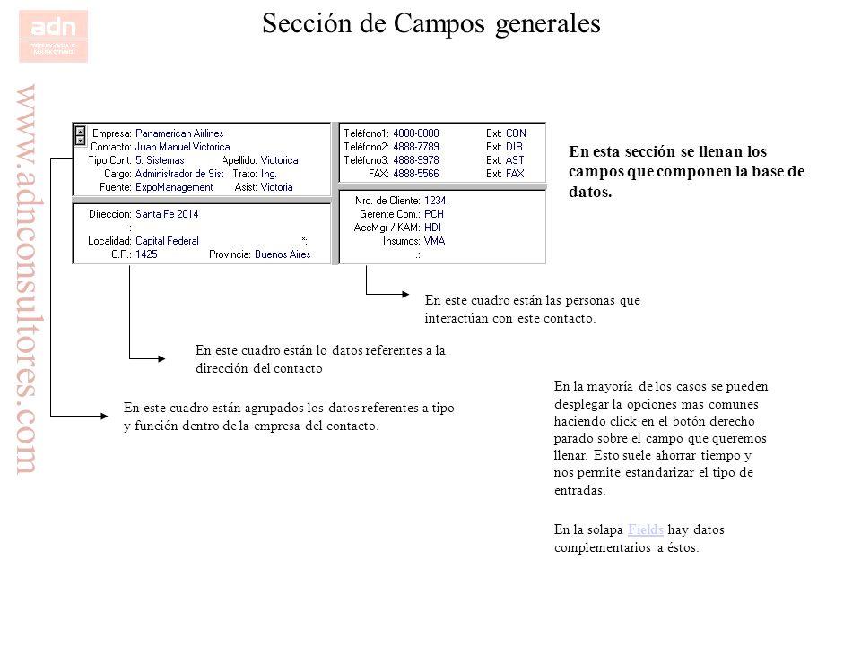 Sección de Campos generales