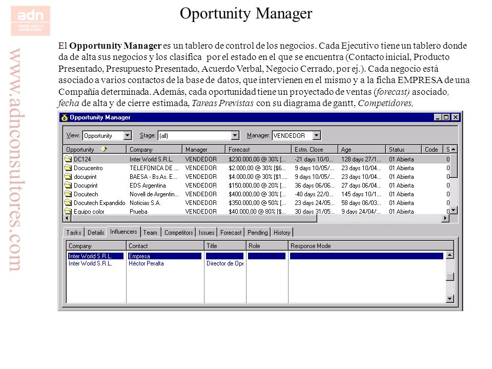 Oportunity Manager