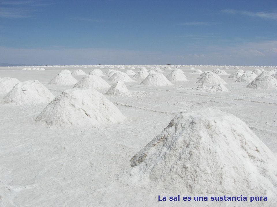 La sal es una sustancia pura