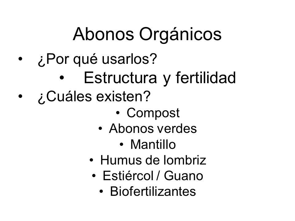 Estructura y fertilidad