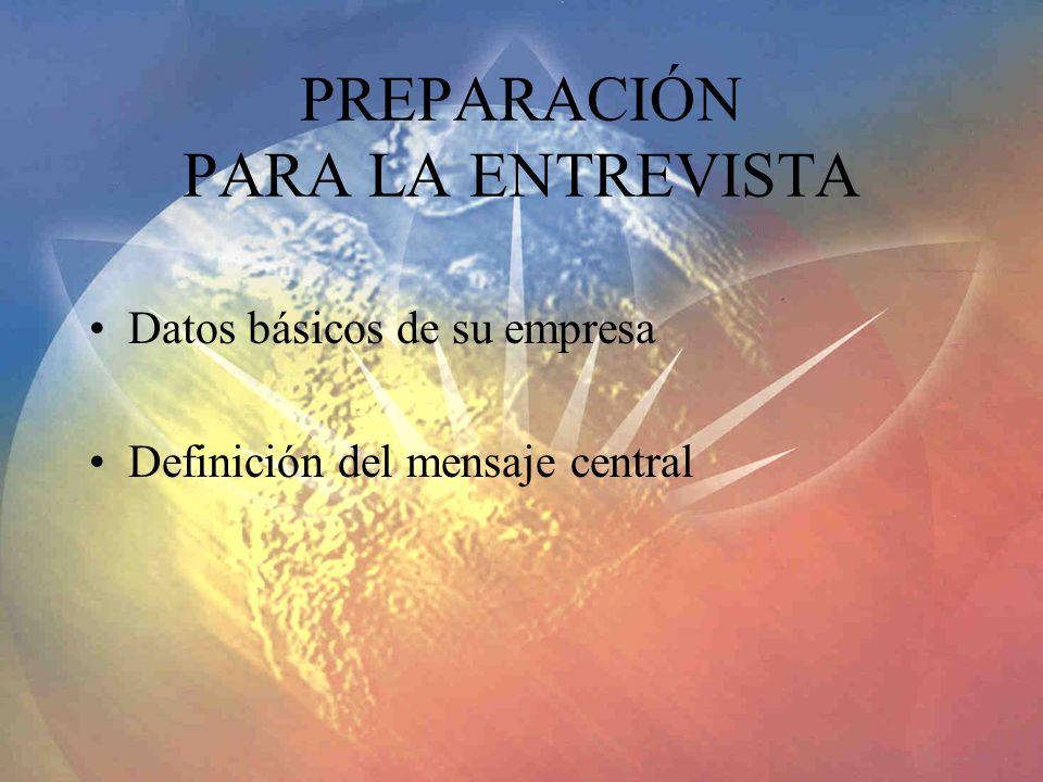 PREPARACIÓN PARA LA ENTREVISTA