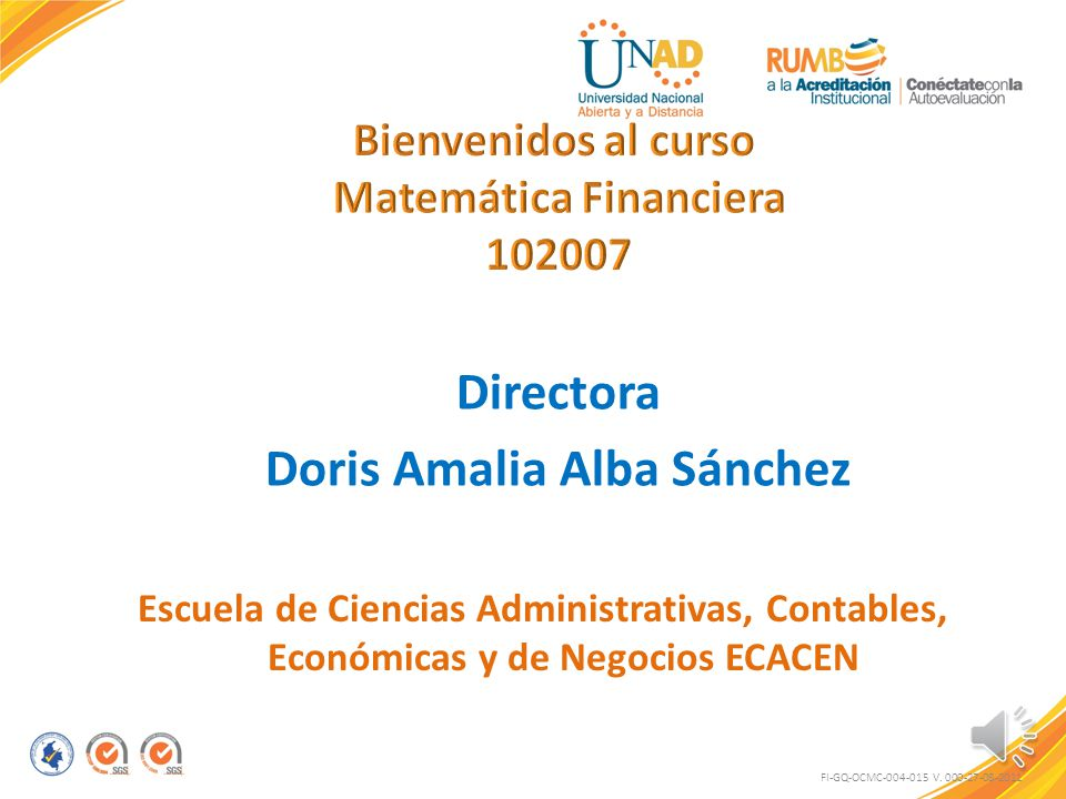 Matemática Financiera Doris Amalia Alba Sánchez