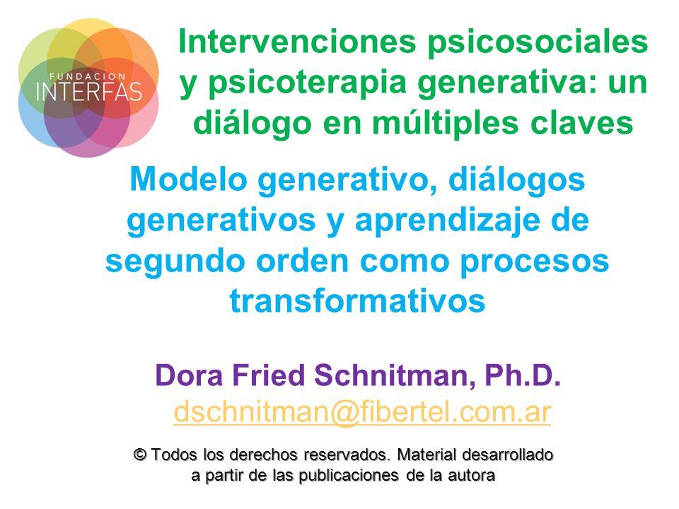 Dora Fried Schnitman, Ph.D.