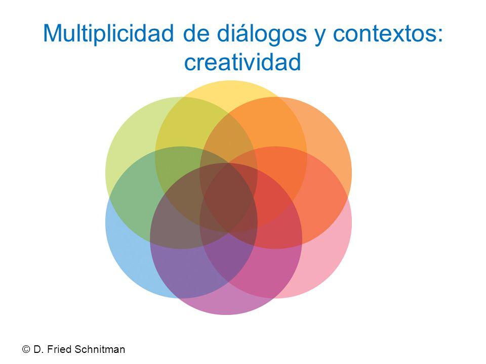 Multiplicidad de diálogos y contextos: creatividad