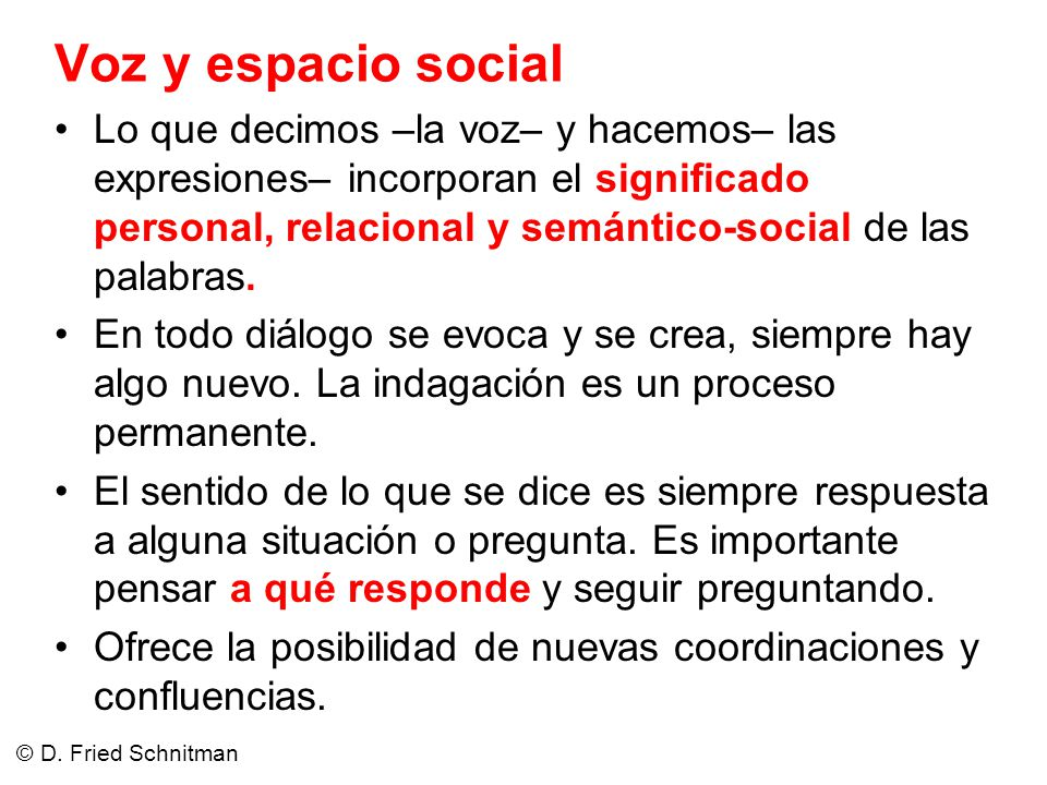 Voz y espacio social