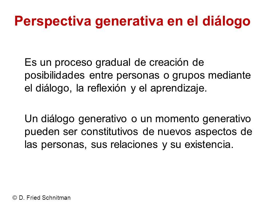 Perspectiva generativa en el diálogo