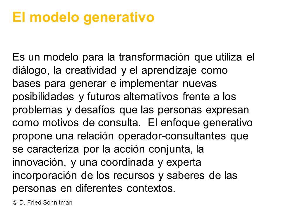 El modelo generativo