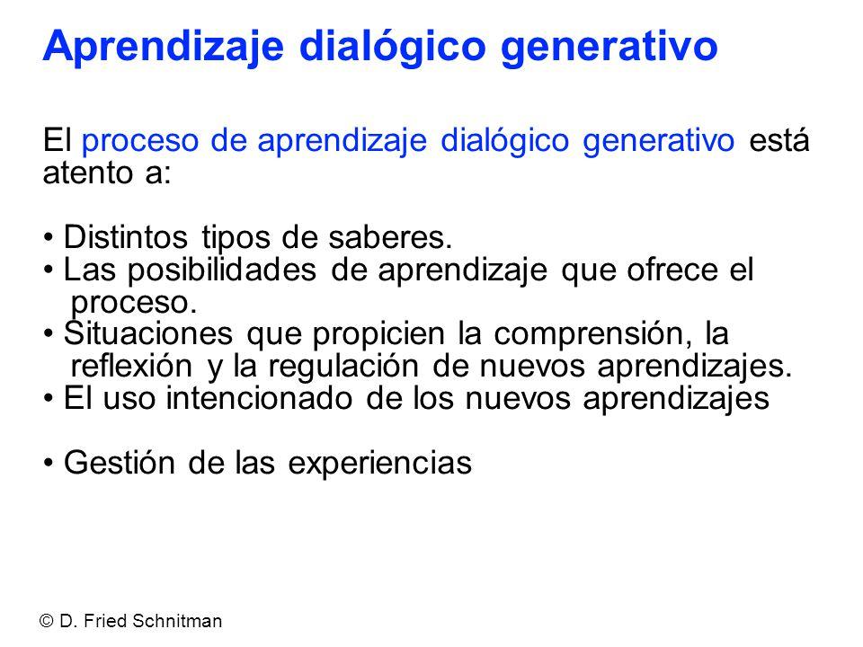 Aprendizaje dialógico generativo