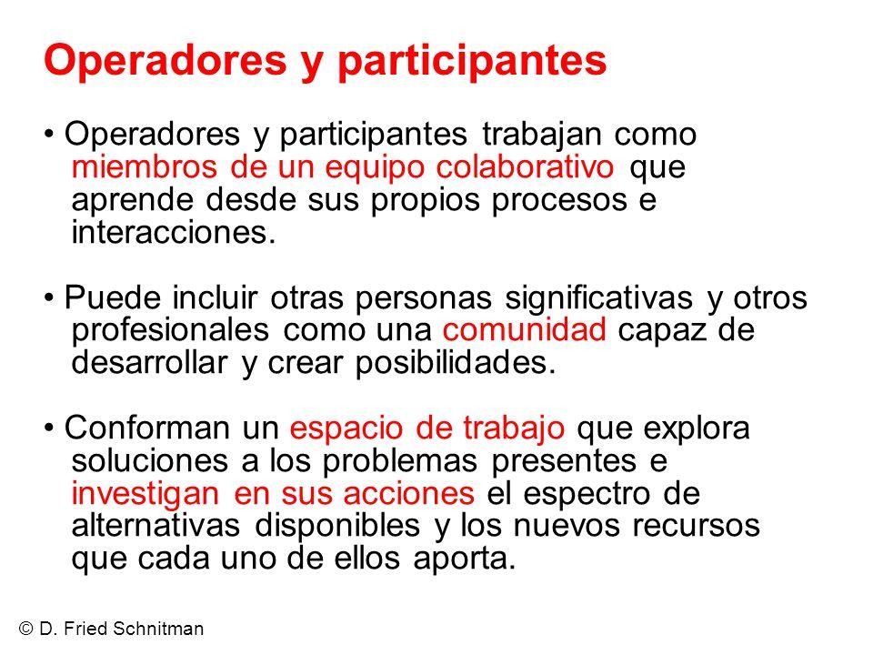 Operadores y participantes