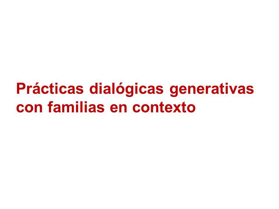 Prácticas dialógicas generativas con familias en contexto