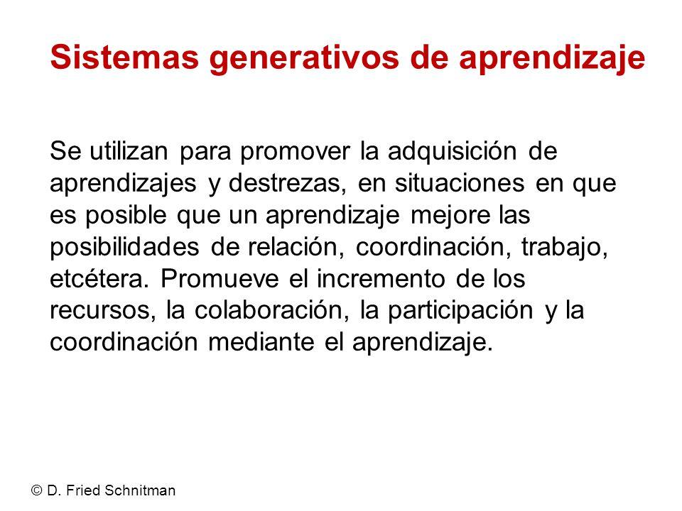 Sistemas generativos de aprendizaje