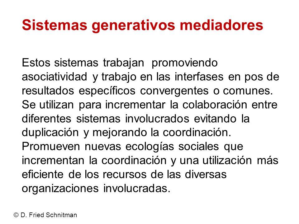 Sistemas generativos mediadores