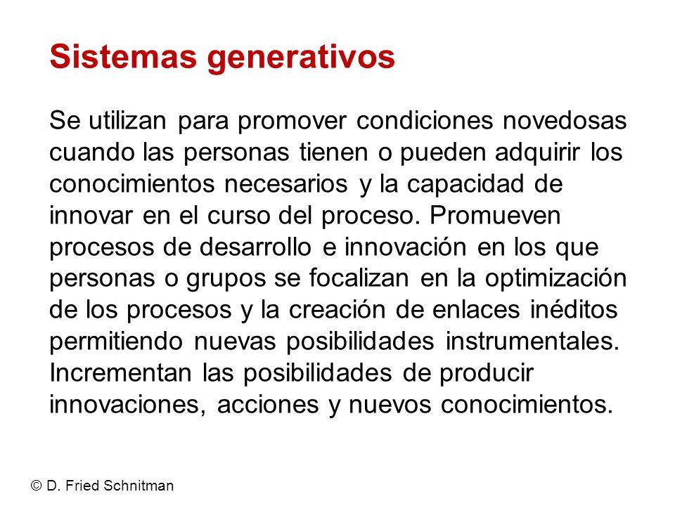 Sistemas generativos