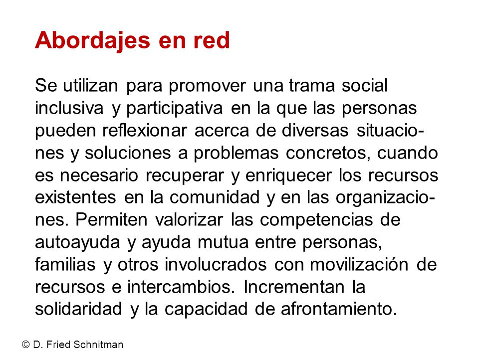 Abordajes en red