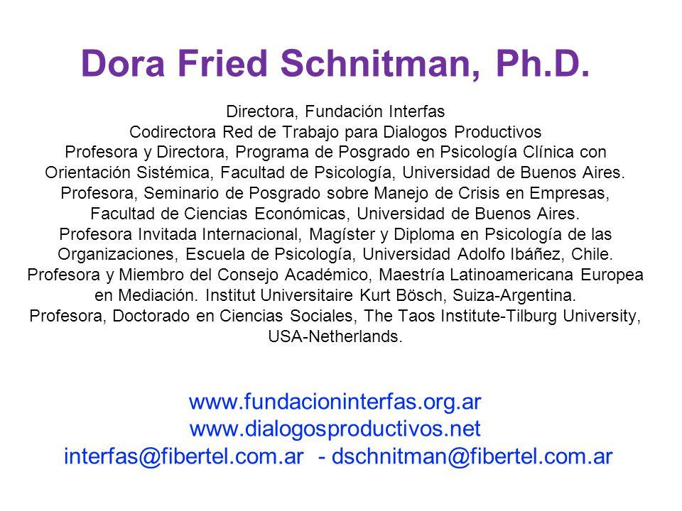 Dora Fried Schnitman, Ph. D