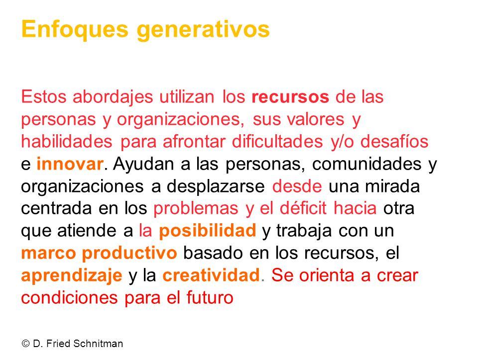 Enfoques generativos