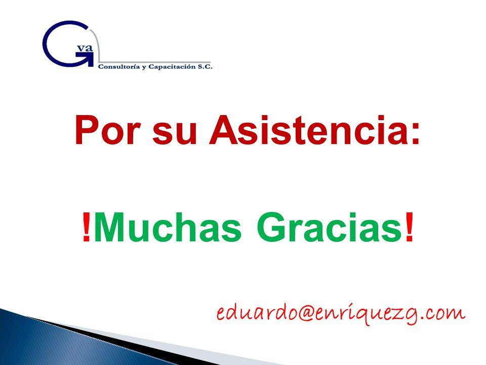 Por su Asistencia: !Muchas Gracias!