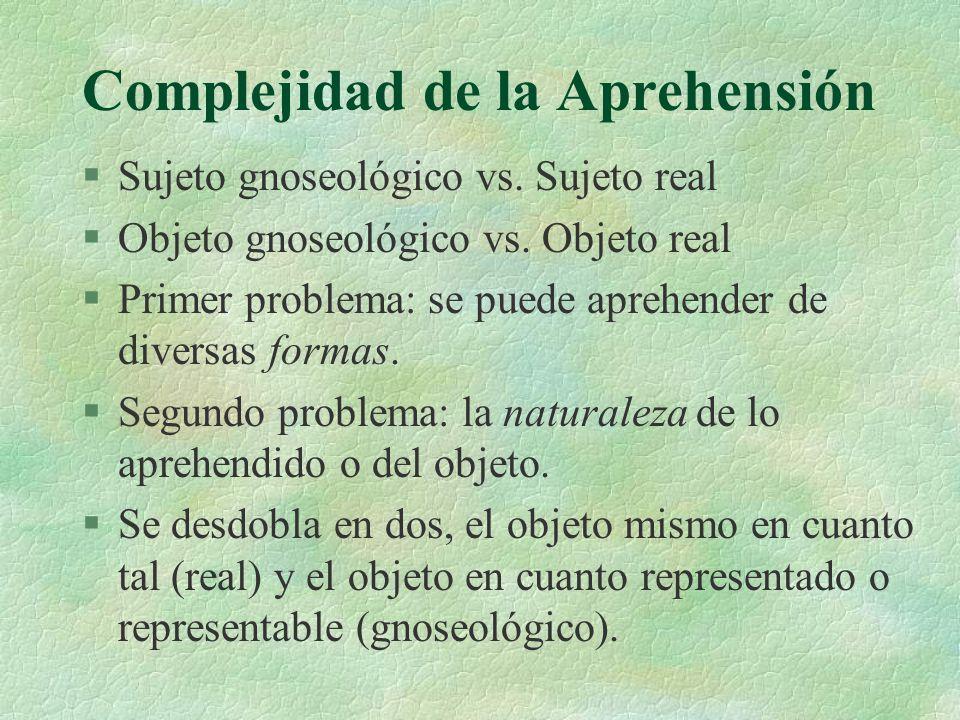Complejidad de la Aprehensión