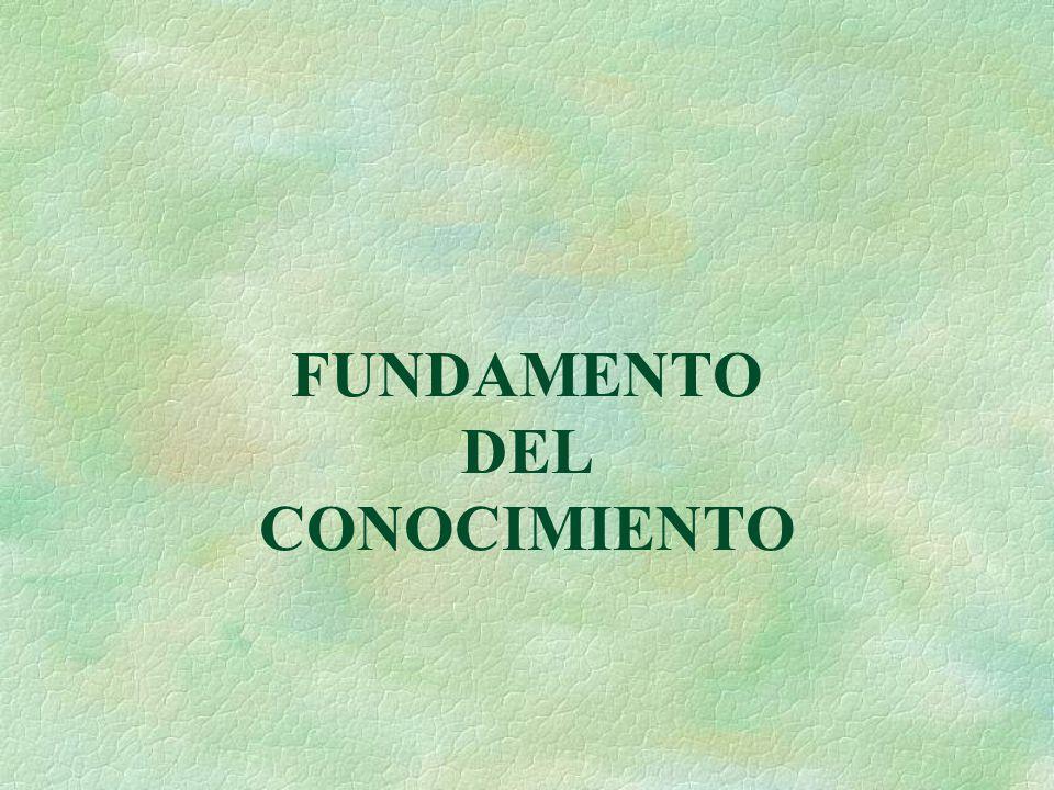 FUNDAMENTO DEL CONOCIMIENTO