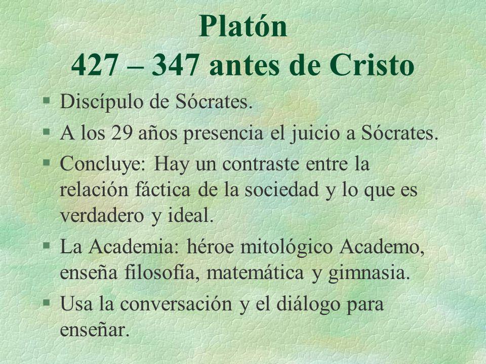 Platón 427 – 347 antes de Cristo