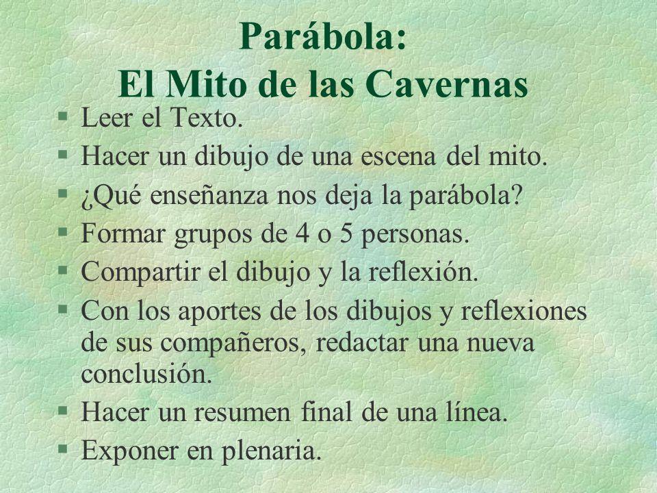 Parábola: El Mito de las Cavernas