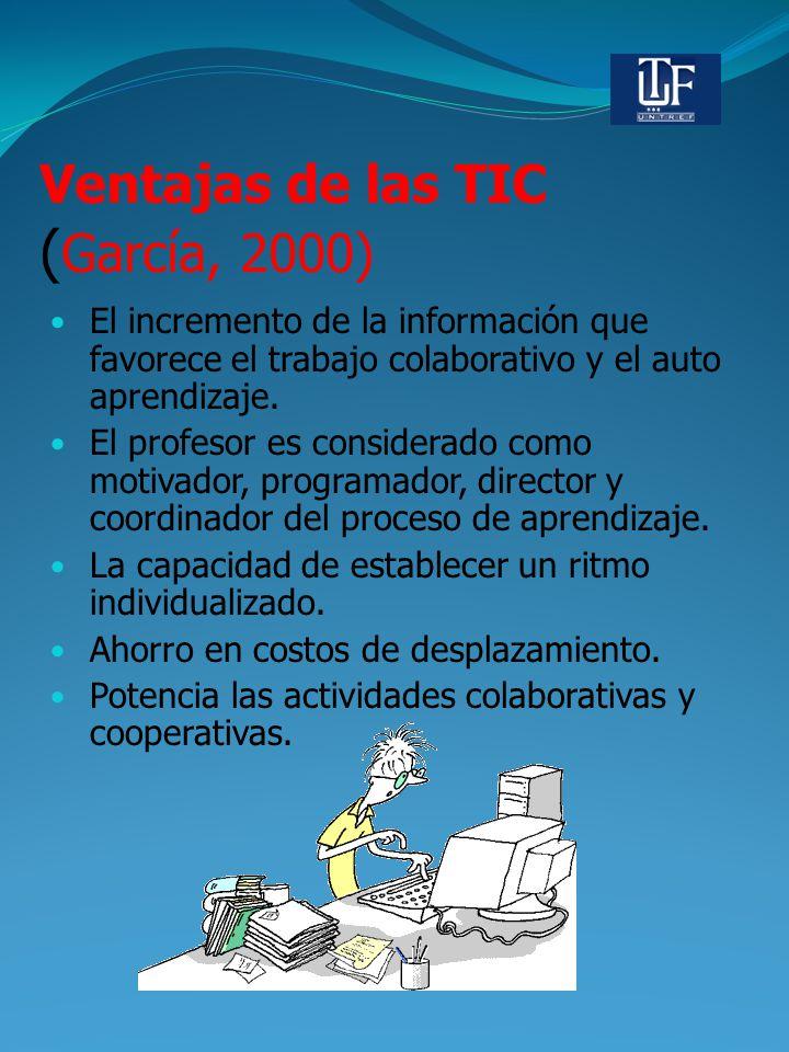 Ventajas de las TIC (García, 2000)
