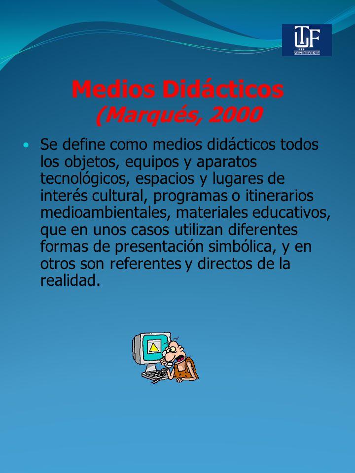 Medios Didácticos (Marqués, 2000
